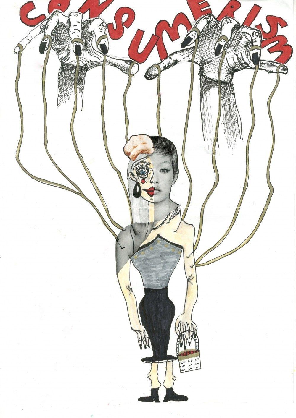 Fashion Consumerism S Marionette Consumerism Soft Words Art
