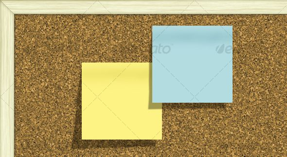 Corkboard and Sticky Notes | Template, Font logo and Fonts