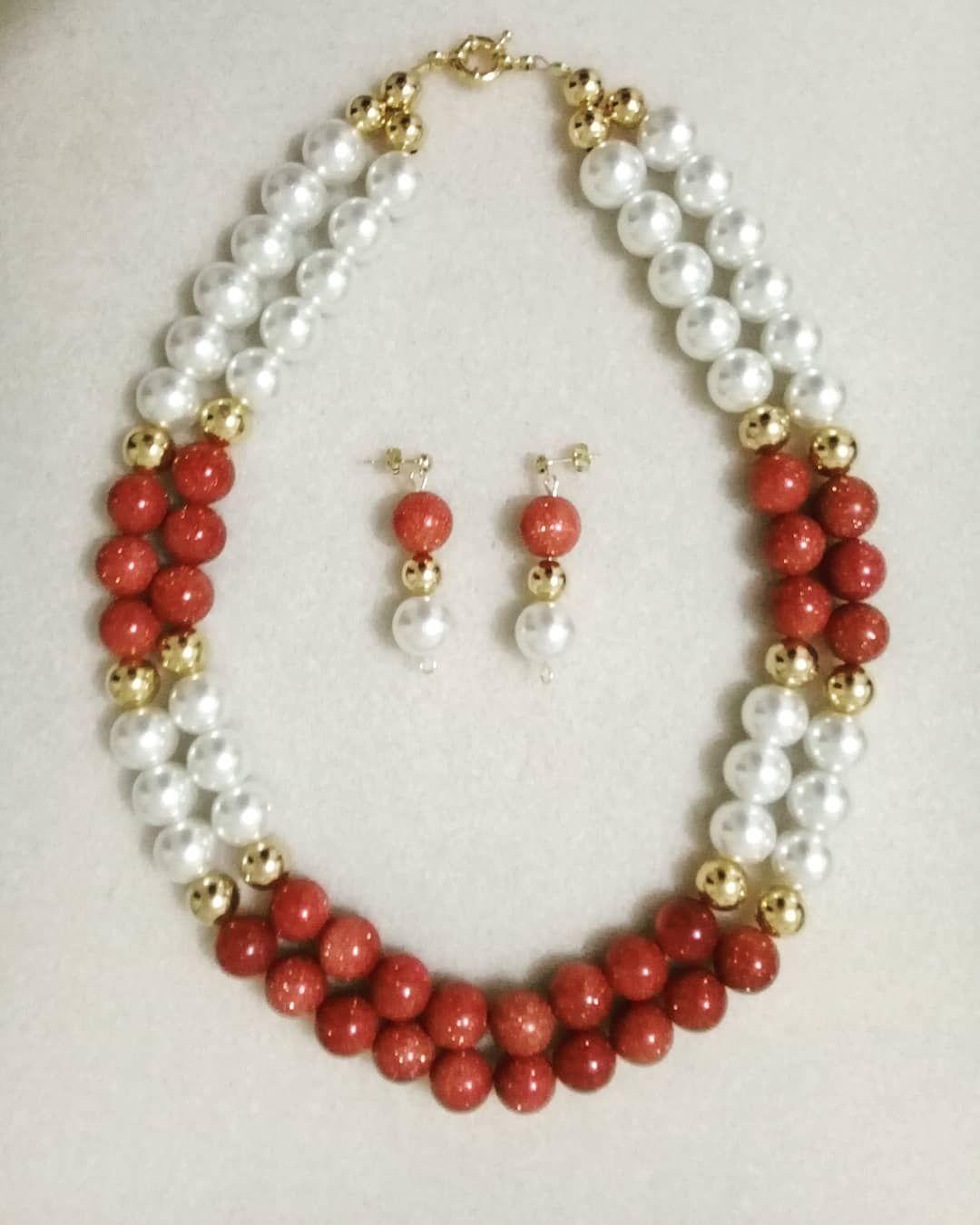 e07da1851be5 collar  aretes  perla  crema  lluviadeoro  bolagolfi  moda  belleza ...