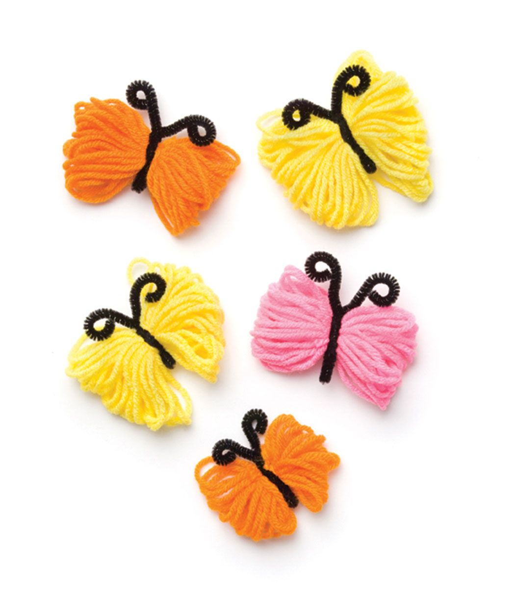 Delightful Wool Craft Ideas For Kids Part - 2: Butterfly Trim (these Are Cute And Really Easy) · Yarn Crafts KidsHat ...
