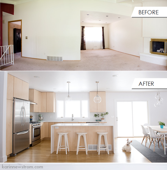 Before And After Of This Beautiful Open Concept Kitchen: Kitchen Remodel, Split