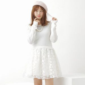 earth music&ecology Heart Pattern Dress