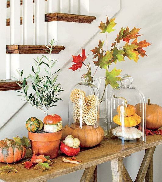 Fall Indoor Decorating Pumpkins and Natural Elements | Southern Living Magazine