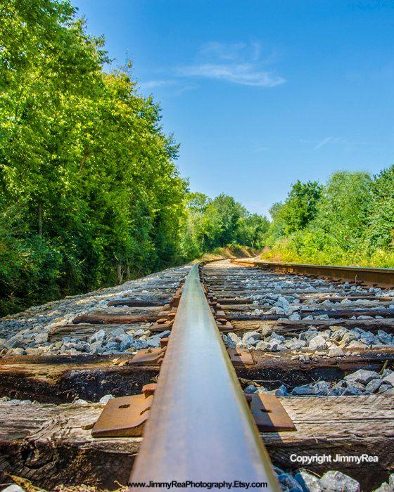 Railroad track picture wall decor fine art photography ...