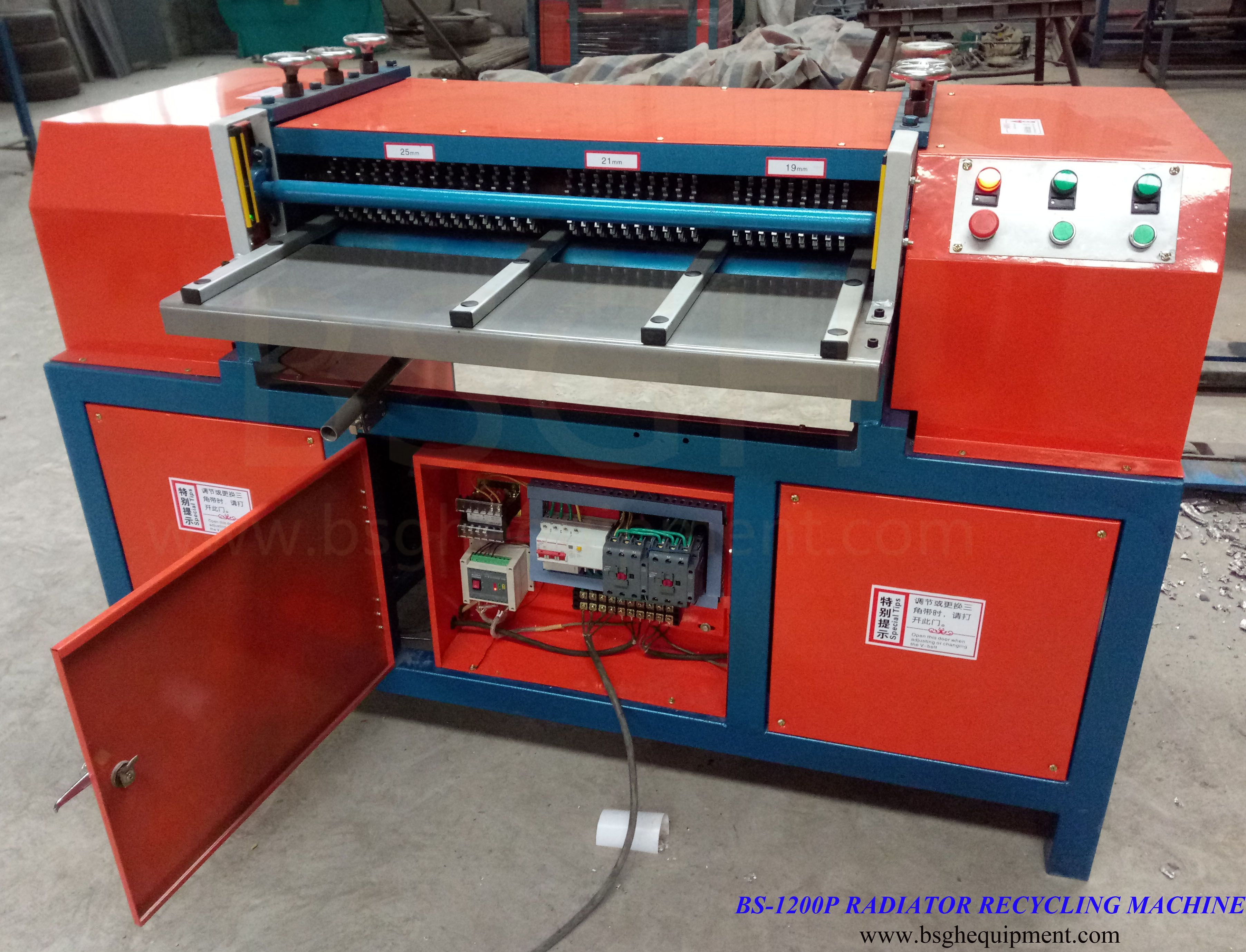 China supplier waste radiator fin stripping and automatic