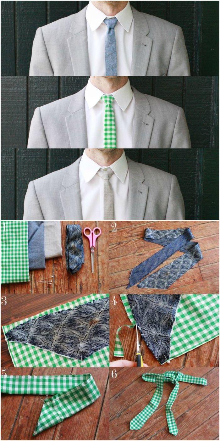 5dd97e168f6f cravate slim imprimé facile à réaliser soi même, idée cadeau homme pour  ceux qui aiment