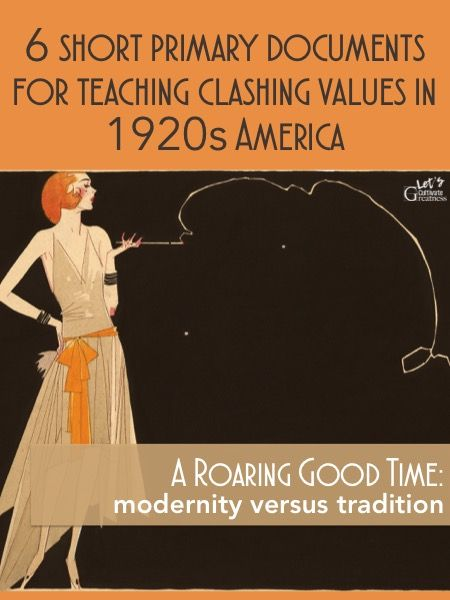 Roaring 1920s Primary Source Document Analysis Activity 6