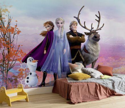 Elsa /& Anna Frozen bedroom wallpaper murals 254x184cm photo wall decor DISNEY