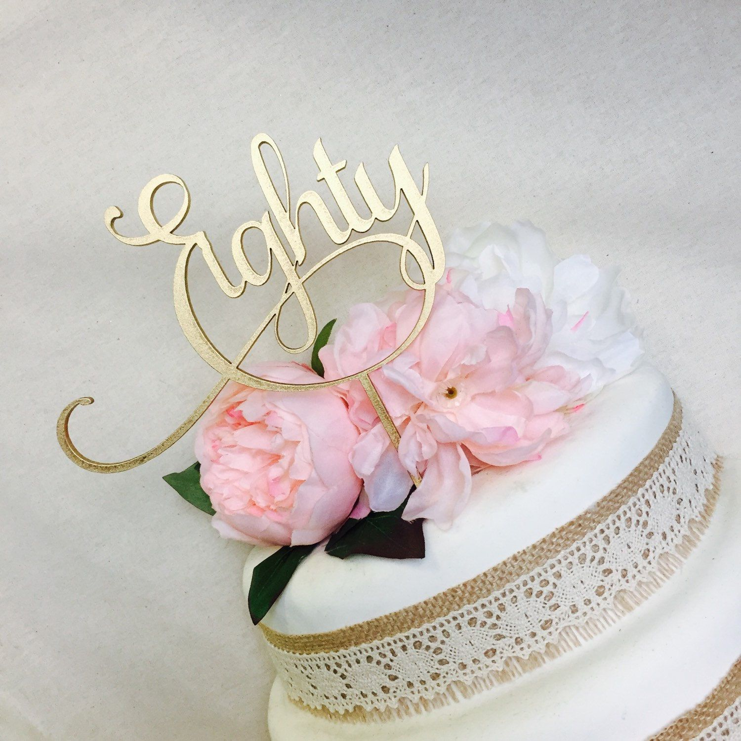 Eighty Cake Topper 80th Birthday Cake Topper Cake Decoration Cake