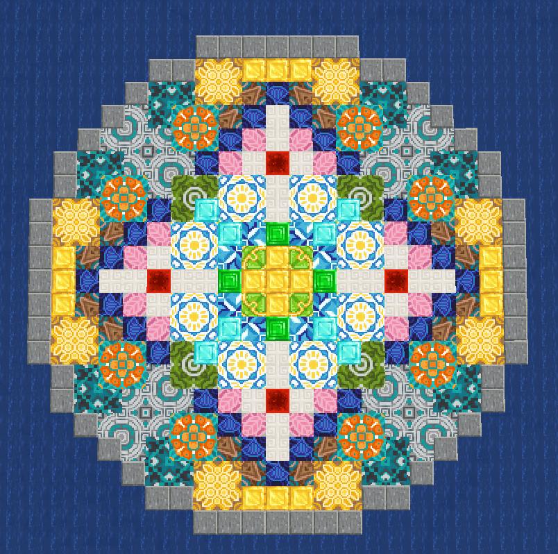 Just Another Terracotta Pattern Minecraft Designs Minecraft Statues Minecraft