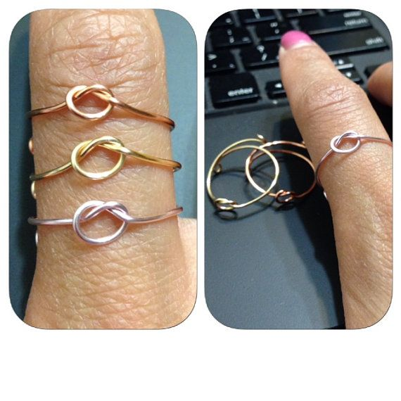 Cheap enough for everyone's gift bag ;P  Knot Wire Ring by shopenvyme2013 on Etsy