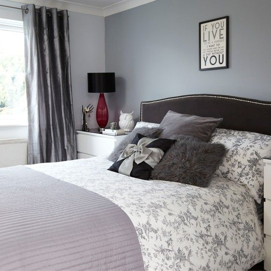 Grey And Black Bedroom | Bedroom Decorating | Style At Home |  Housetohome.co.