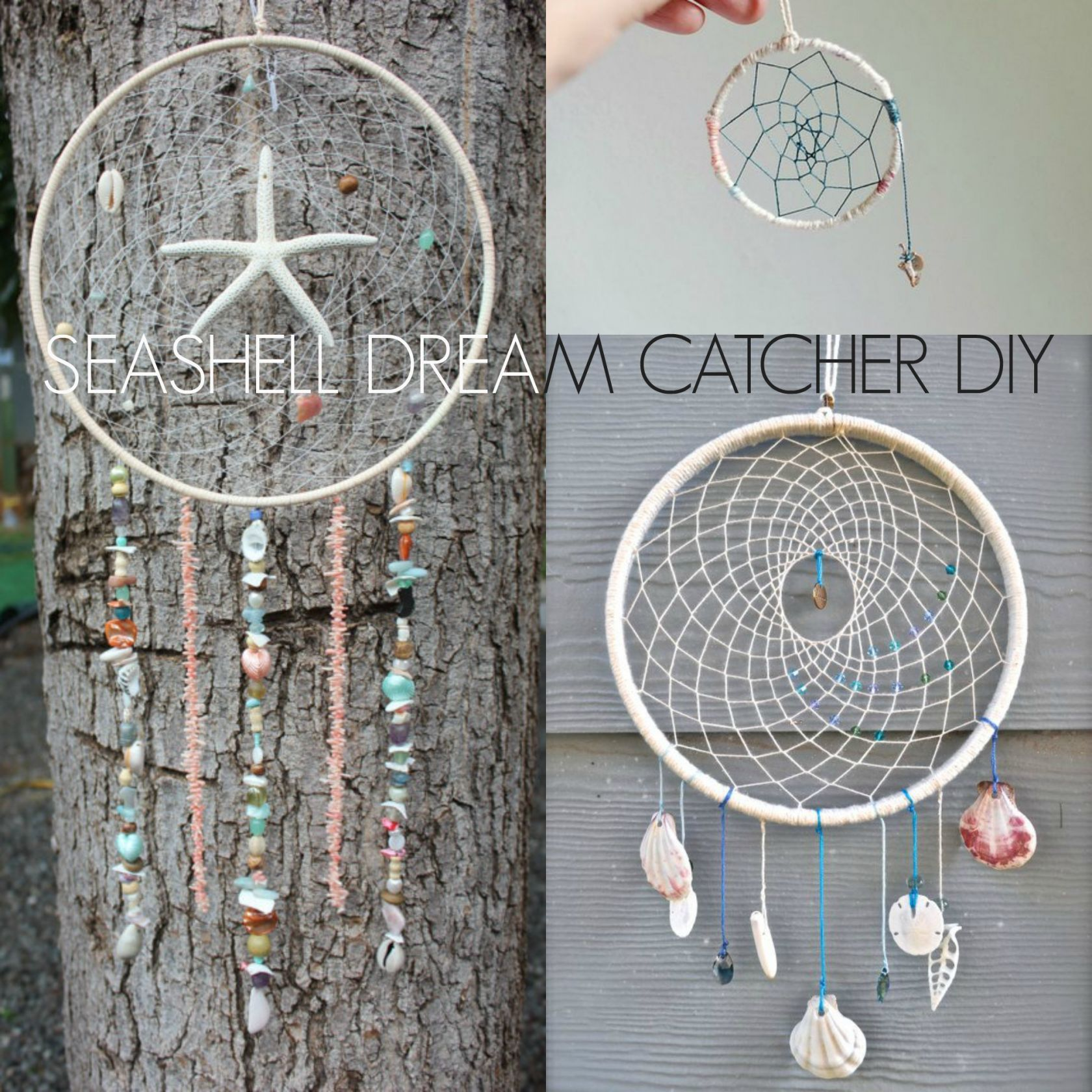 Seashell Dream Catcher DIY | Kid projects | Dream catcher