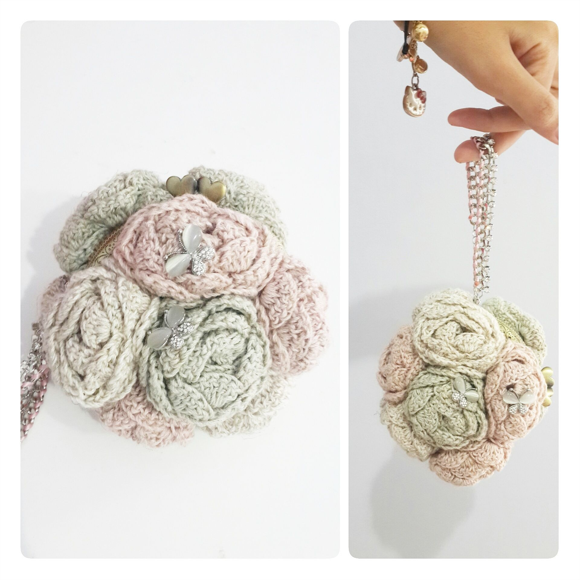 Bouquet of Rosettes Purse - free crochet pattern by Qays Design ...