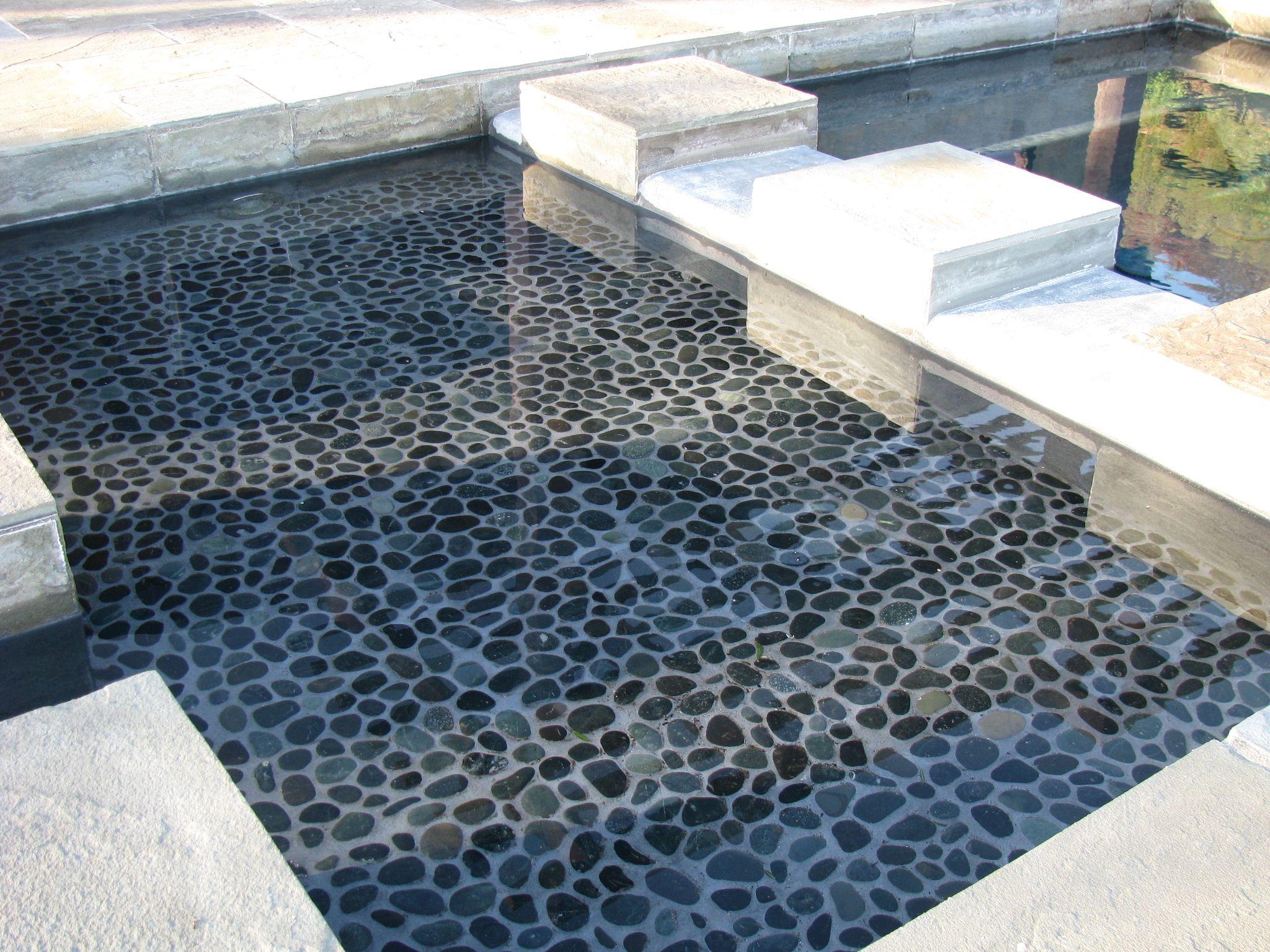 Zen Paradise Black Sumatra Natural Pebble Tiles http://www ...