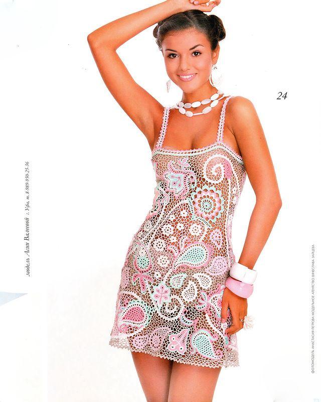 Edivana Croche: Mini Vestido Transparente Super Sexy
