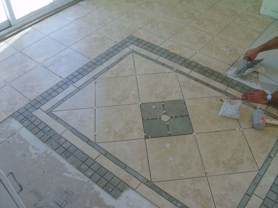 Ceramic Floor Tile Pattern Bullnose Borders May Even Want To