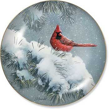 6550092526:December Dusk - Cardinal Plate