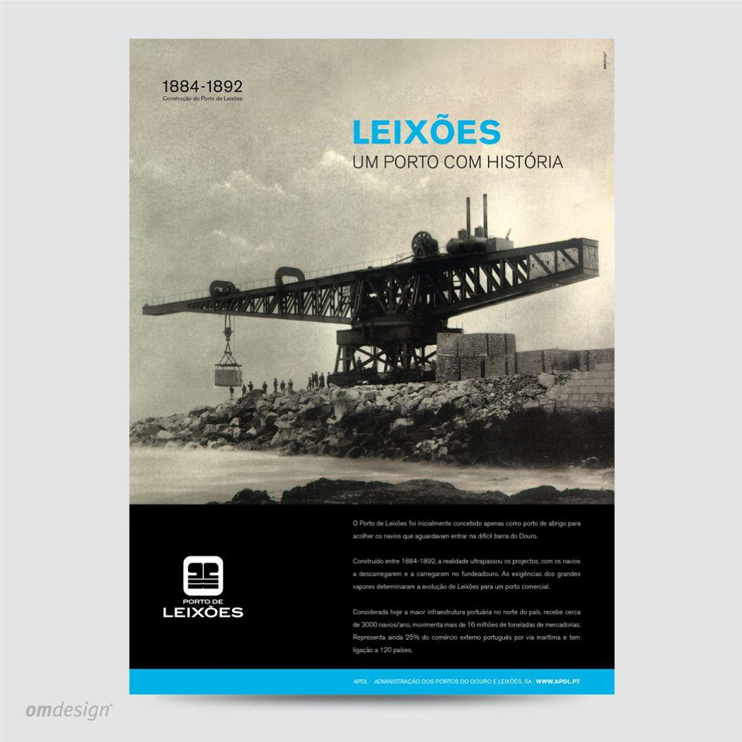 """Anúncio de imprensa """"Leixões: Um porto com história"""" (2011)  #Omdesign #Design #Portugal #LeçadaPalmeira #Since1998 #AwardedAgency #DesignAwards #Anúncio #PressAd #PortodeLeixoes #APDL #Matosinhos #Leça"""