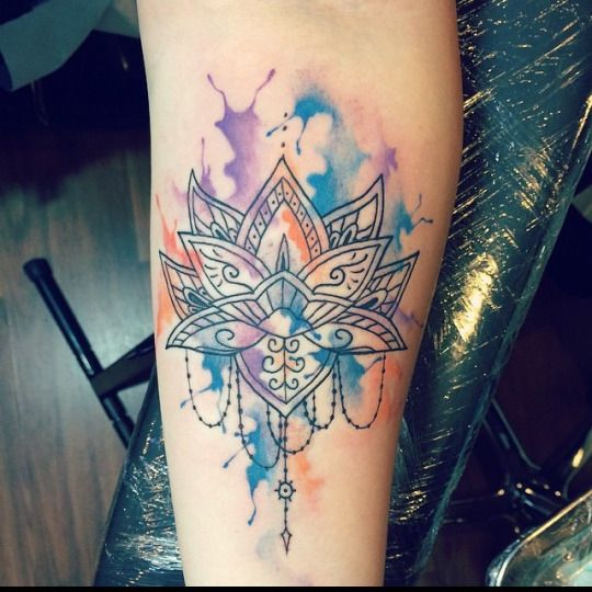 Silly Moi94 Tattoos Geometric Tattoo Lotus Geometric Tattoo