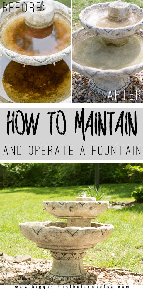 How To Run and Maintain an Outdoor Fountain - Bigger Than the Three of Us