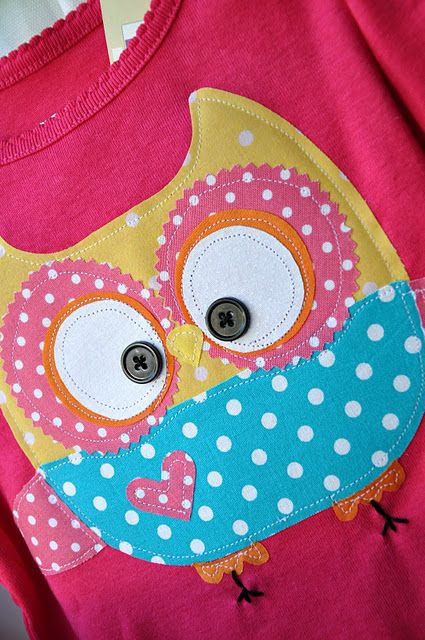 camiseta con buho | camisetas | Pinterest | Nähen, Eule und ...