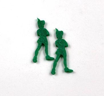 Set of 2. Lasercut Acrylic Peter Pan– 21.5 mm Wide Peter Pan. Made of  Acrylic. Perfect for Brooches, Acrylic Crafts