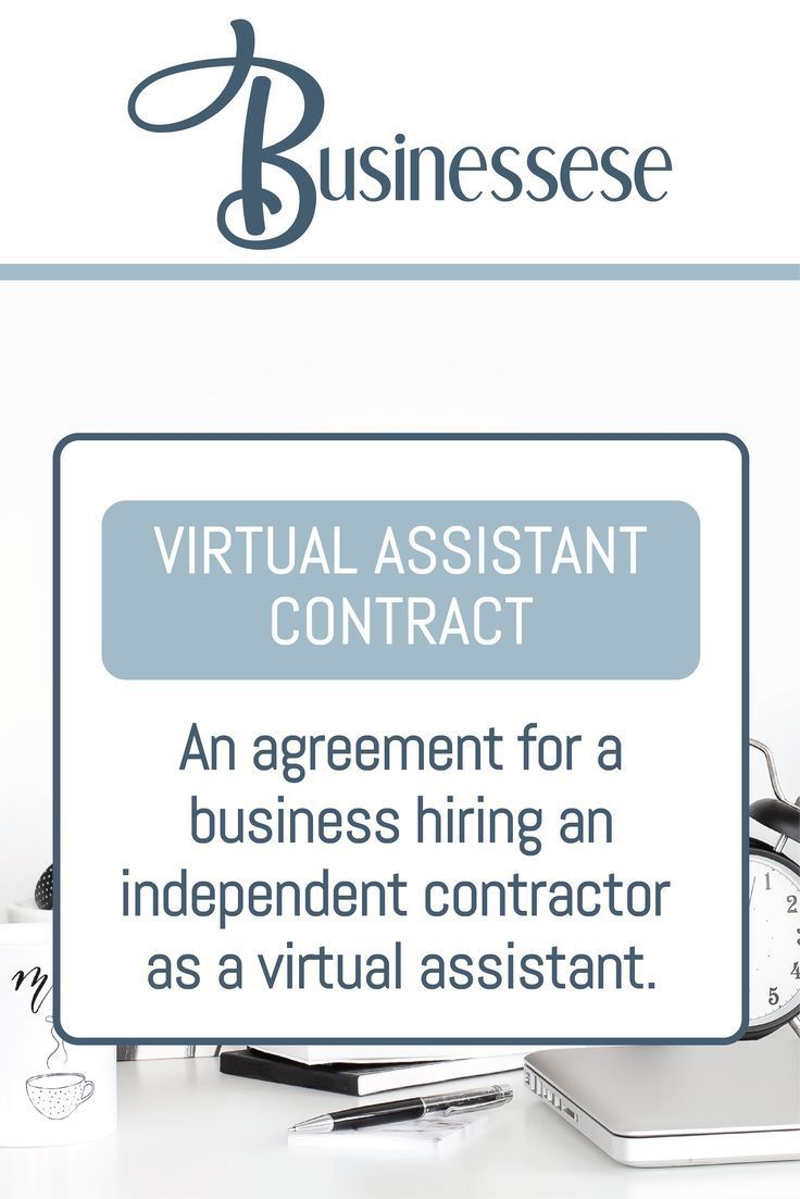 Virtual Assistant Contract Online business