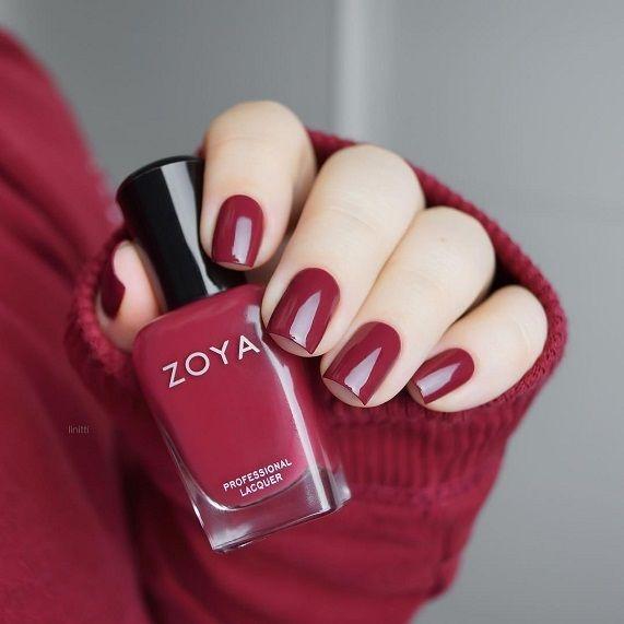 Dark red nail polish | Dark red nails, Nail color trends and Fall ...