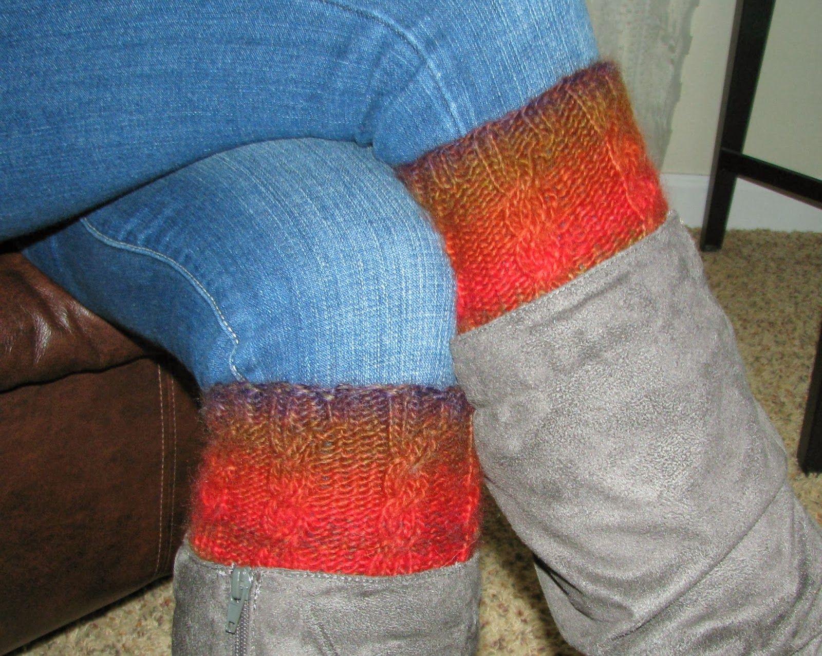 Kneed 2 Knit: Two-Way Boot Cuffs Pattern   Crochet and knit ...
