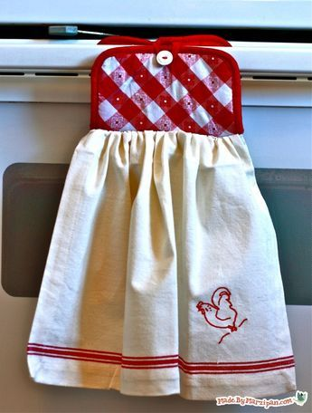 Potholder Dishtowel Kitchen Towels Hanging Dish Towel Crafts
