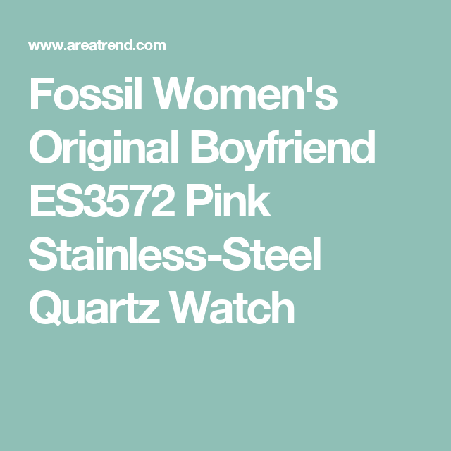 Fossil Women's Original Boyfriend ES3572 Pink Stainless-Steel Quartz Watch