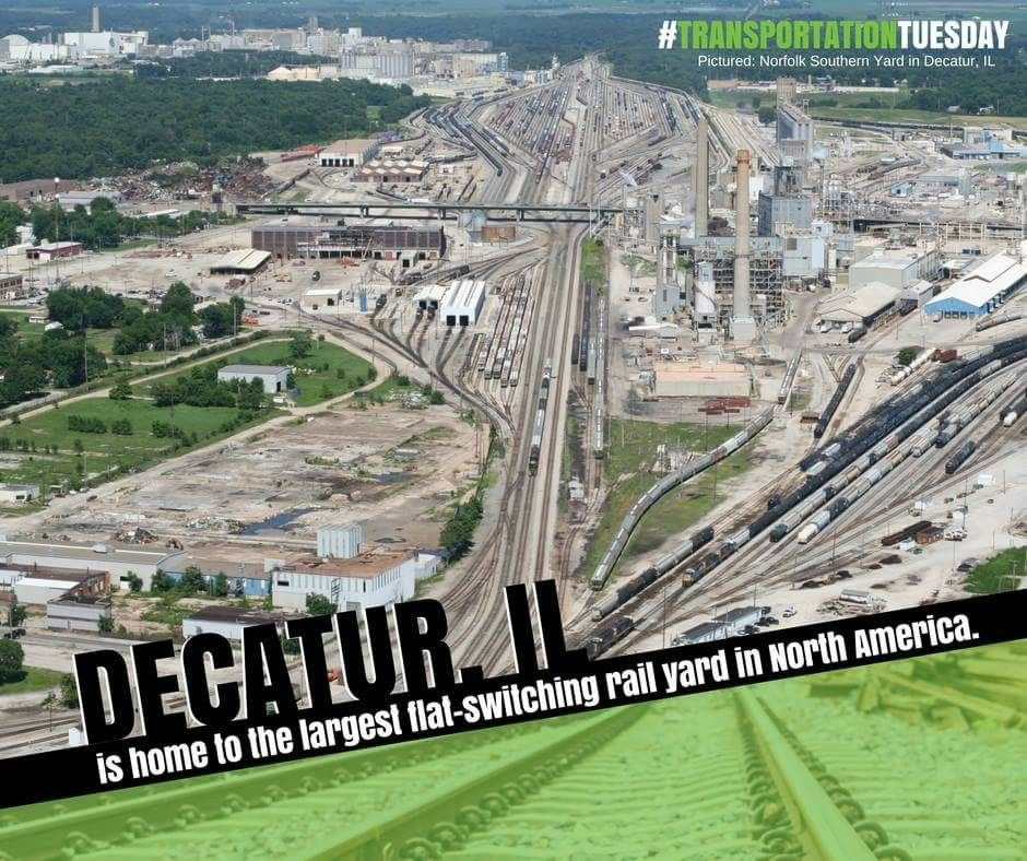 Decatur Is Home To The Largest Flat Switch Rail Yard In North America Decatur Illinois Decatur Norfolk Southern
