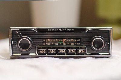 Becker-Europa-MU-AM-FM-Radio-for-60s-70s-Mercedes-Porsche