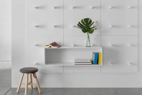 Dots Bookshelf Has Been Designed By Aris Architects For Polarislife And Won  The Red Dot Design Award 2014 In The Category Of Interior Design Elements