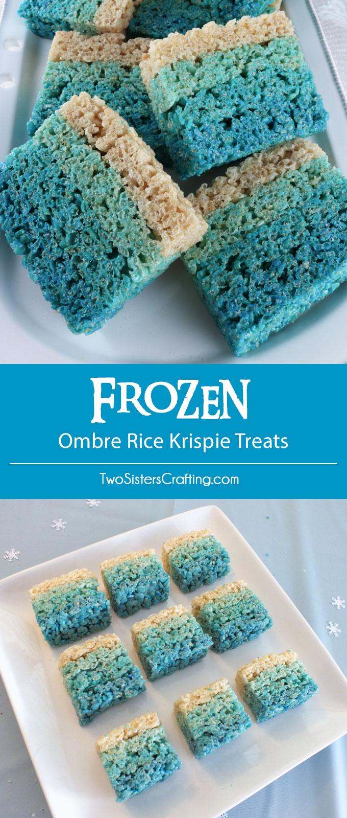 Disney Frozen Ombre Rice Krispie Treats - Two Sisters