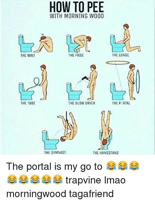Lmao Memes And How To The Wait The Tube How To Pee With Morning Wood The Frog The Lunge The Blow Dryer The Portal Morning Wood Handstand Blow Dryer