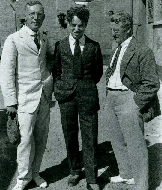 Charlie with Upton Sinclair and Rob Wagner