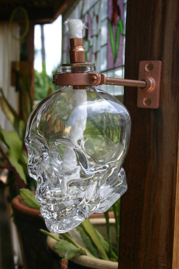 Crystal Head Vodka 750ml Tiki Torch Oil Lamp Including
