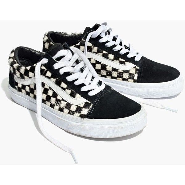 659ea0ce81 Madewell x Vans® Unisex Old Skool Lace-Up Sneakers in Checked Calf... ( 80)  ❤ liked on Polyvore featuring shoes