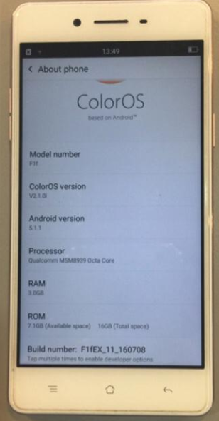 Download Oppo F1F Flash File Stock Firmware is used for Oppo F1F