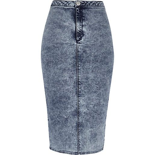 17 Best images about Denim on Pinterest | Tube skirt, Studded ...