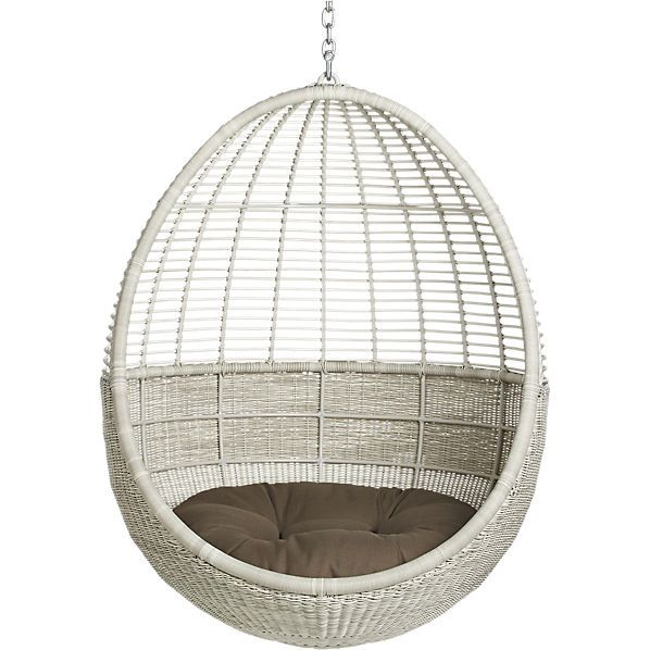How Amazing Would This Pod Hanging Chair With Cushion From Cb2 Be