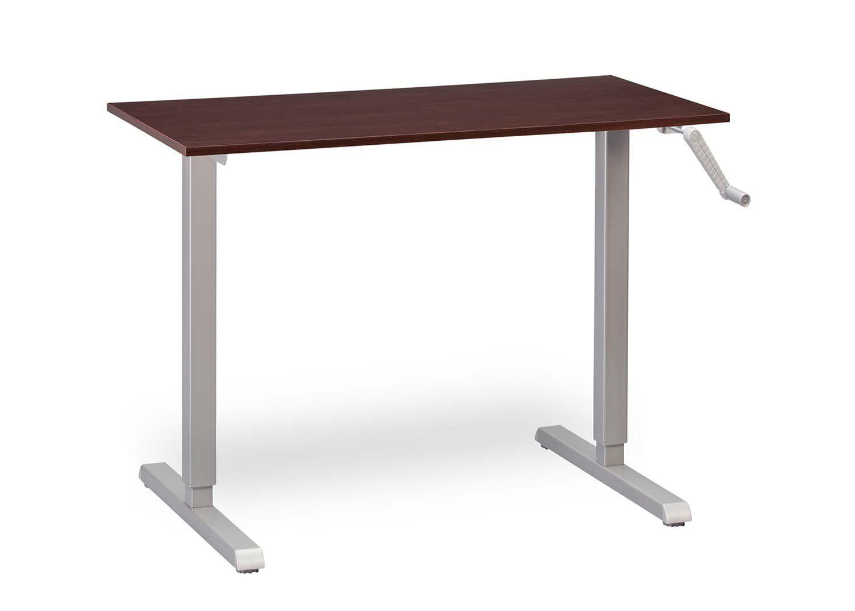 multitable height adjustable crank standing desk with silver frame rh pinterest com