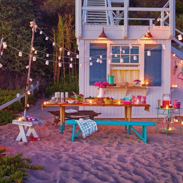 Bright Beach Party // via poppytalk