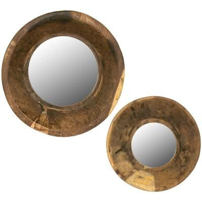 Home Decorators Collection Lyle 13.25 in. x 13.25 in. Round Framed Wall Mirror (Set of 2)-8276100810 - The Home Depot