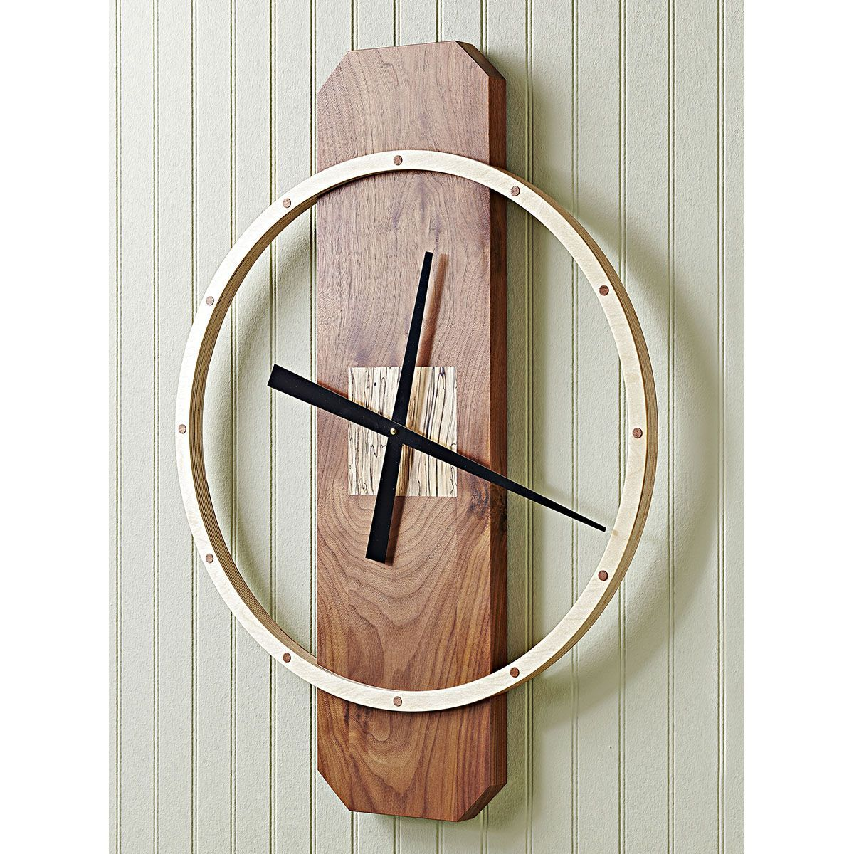 Big time wall clock woodworking plan Build this