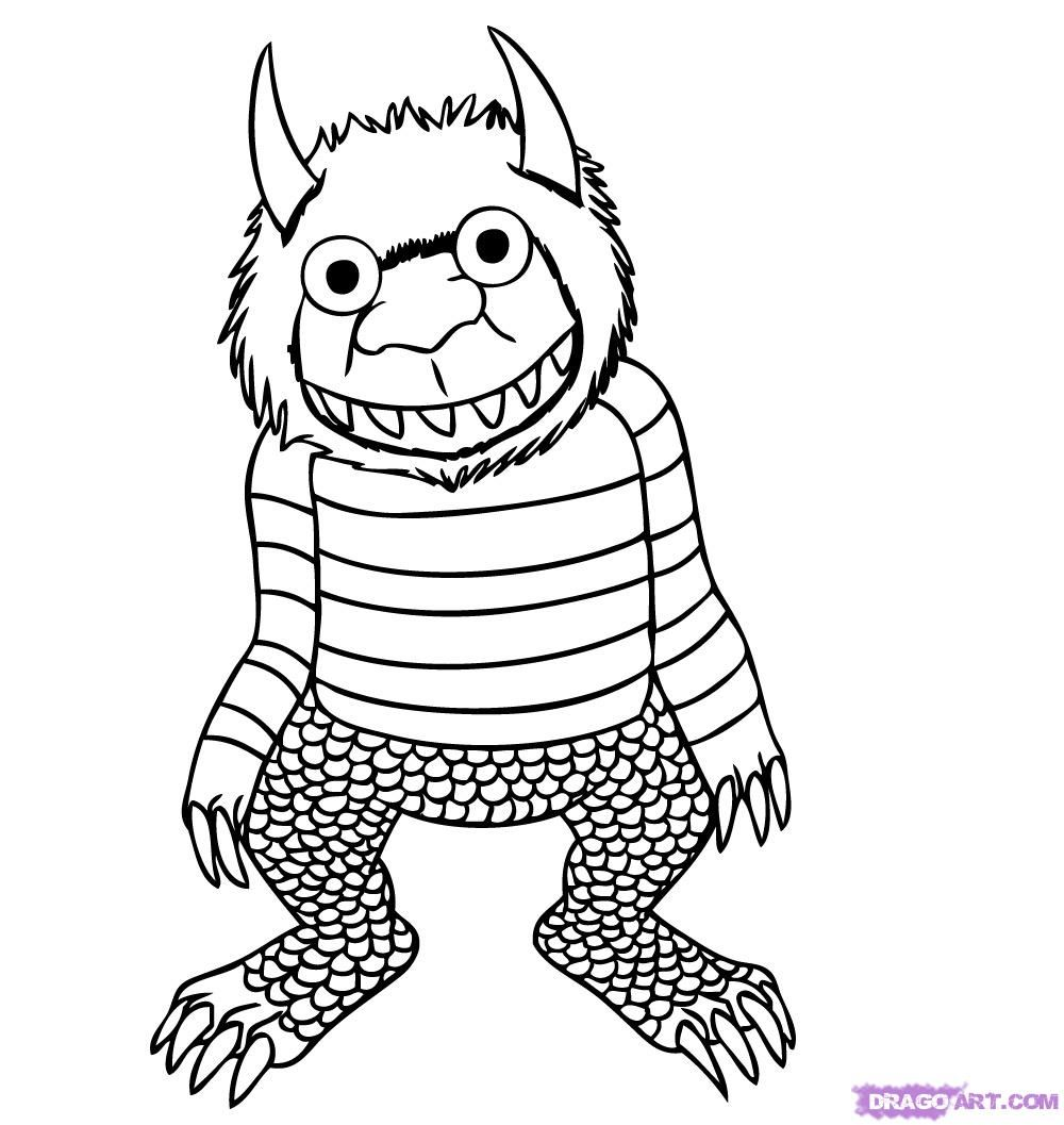 how to draw where the wild things are step 6 | Camp Good Grief ...
