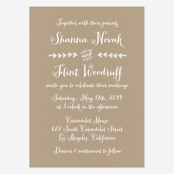 Wedding invitation wording that wont make you barf Invitation