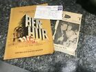 The Story Of The Making Of Ben Hur 1959 Movie Book Both Posters Attached Invite #book #benhur1959